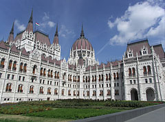 "The neo-gothic style stateful Hungarian Parliament Building (""Országház"") - Budapest, Hungary"