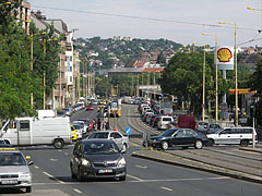 Car traffic on the Alkotás Road - Budapest, Hungary