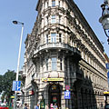 Blade-shaped corner building - Budapest, Hungary