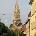 The Roman Catholic Parish Church, viewed from the Town Hall - Budapest, Hungary