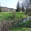 The Sinkár Brook, that divides the village - Csővár, Hungary