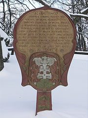 """The prayer of the forest"" on a carved wooden board - Dobogókő, Hungary"