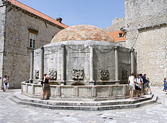 The Great Onofrio's Fountain (also known as Big Onuphrius' Fountain or Onoufrios' Fountain) - Dubrovnik, Croatia