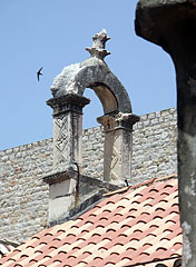 Stone gate on a roof - Dubrovnik, Croatia