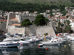 The Saint Luke's Fortress, from the water of the harbour - Dubrovnik, Croatia