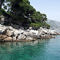 Rocky coast on the Lokrum Island - Dubrovnik, Croatia