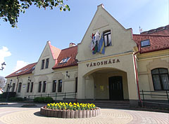 The front wall of the Town Hall of Dunakeszi - Dunakeszi, Hungary