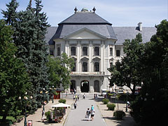 The baroque Lyceum, the main building of the Eszterházy Károly College - Eger, Hungary