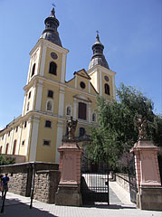 The twin-towered Cistercian Church - Eger, Hungary
