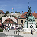 The baroque main square and the castle - Eger, Hungary