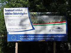The board of the renovations of Babatvölgy from the sources of the European Union - Gödöllő Hills (Gödöllői-dombság), Hungary