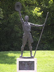 Sculpture of a boy scout - Gödöllő, Hungary