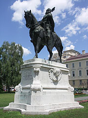 Equestrian statue of Coloman Prince of Galicia-Lodomeria near the Szent István University of Gödöllő (former Norbertine monastery) - Gödöllő, Hungary