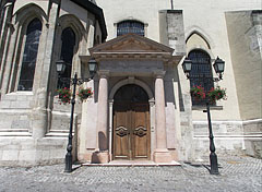 The southern door of the Basilica of Győr, near the gothic Héderváry Chapel - Győr, Hungary