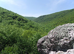 View to the verdant hills from the Málnás Valley rocks - Háromhuta, Hungary