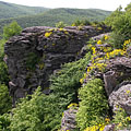 A big rock of the Sólyom Cliff at 564 meters above the sea level - Háromhuta, Hungary