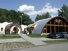 The visitor center and the protective building of the prehistoric trees from Bükkábrány - Ipolytarnóc, Hungary