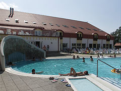The way out in the water to the outdoor pools - Kehidakustány, Hungary