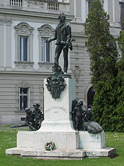 Statue of Count György Festetics in the palace garden - Keszthely, Hungary