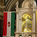 Statue of Virgin Mary on the neo-baroque main altar - Máriagyűd, Hungary