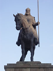 Equestrian statue of King Stephen I of Hungary (St. Stephen) - Mátészalka, Hungary