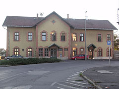 The old railway station building, today there is a museum inside it (a local railway history exhibition) - Mátészalka, Hungary