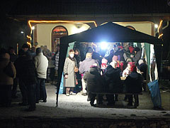 Casual canteen near the confectionery in the main square, before Christmas - Mogyoród, Hungary