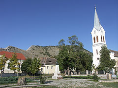 The main square of Nagyharsány village, which is situated to the west from Villány town, at the foot of the Szársomlyó Hill - Nagyharsány, Hungary