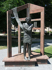 Deportation memorial, the bronze and granite sculpture is a tribute to the victims and persecuted people of the 1950s - Nagykőrös, Hungary