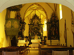Interior of the St. Stephen Roman Catholic Church - Nagyvázsony, Hungary