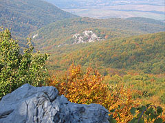 View from the Látó Rocks, the north edge of the Bükk Plateau to the surrounding hills - Ómassa, Hungary