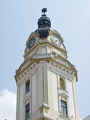 The tower of the City Hall with the clock - Pécs, Hungary