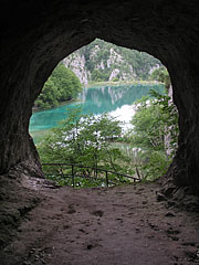 View to the Lower Lakes from the Šupljara Cave - Plitvice Lakes National Park, Croatia