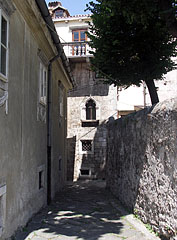 "At the end of the narrow alley it is the Town Museum (""Gradski muzej Senj"") - Senj, Croatia"