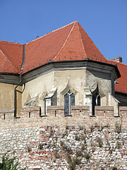 The gothic castle chapel viewed from outside - Siklós, Hungary