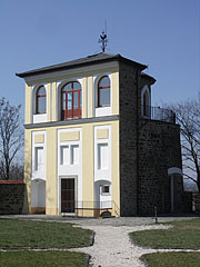 The remaining north-western corner bastion of the former medieval castle of Szécsény is today a lookout tower - Szécsény, Hungary