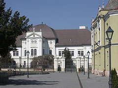 The Forgách Mansion and the former District Court on the renovated square - Szécsény, Hungary