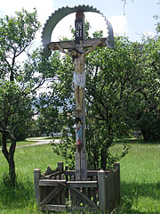 Roadside crucifix (so the crucufied Jesus or Christ on the Cross) from Lendvadedes from 1954 - Szentendre, Hungary