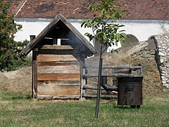 Croft from Nyirád, a soap-making cauldron in front of the pigsty - Szentendre, Hungary