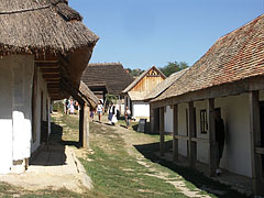 "Houses of the so-called ""Palóc hadas site"" (the common yard of a Palócz kin) - Szentendre, Hungary"
