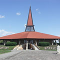 The modern style St. Joseph the Worker Church belongs to the Roman Catholic denomination - Szerencs, Hungary