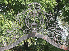 Wrought-iron ornaments on the gate of the Andrássy Mansion - Tóalmás, Hungary