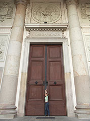 The huge door of the Episcopal Cathedral of Vác - Vác, Hungary
