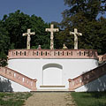Grassalkovich Calvary, its red marble-walled interior was once a water reservoir - Gödöllő, 헝가리