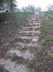 Stone stairs lead to the lookout tower - Fonyód, Mađarska